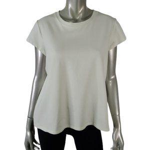 Eileen Fisher Top L Short Sleeve Tee Pale Green